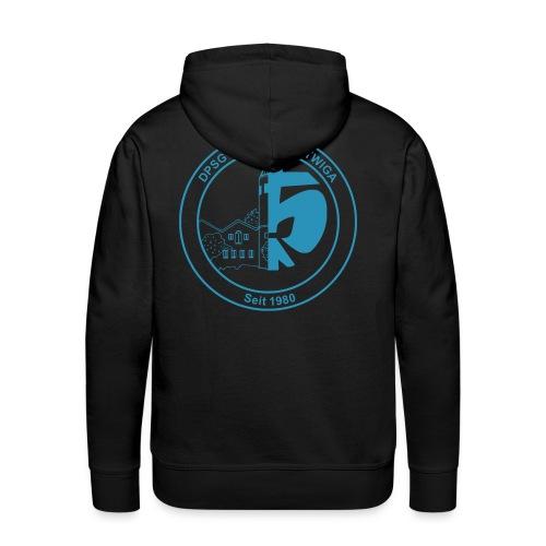 DPSG Kattwiga (Männer) Kapuzenpullover Version 2 (Aufdruck Hellblau) - Männer Premium Hoodie