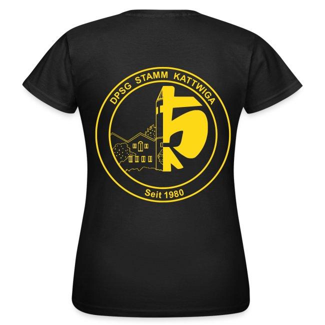 DPSG Kattwiga Frauen T-Shirt Version 2 (Aufdruck Gold/Gelb)