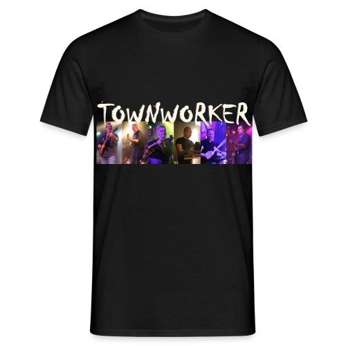 TOWNWORKER Herren-T-Shirt (mit Einzelfotos und Logo) - Männer T-Shirt