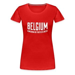Belgium kingdom - Vrouwen Premium T-shirt