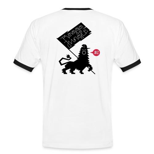 Shirt Lion Flag white black - Men's Ringer Shirt