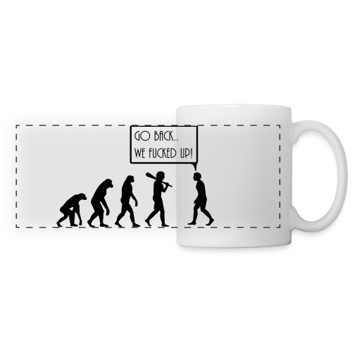 evolution on a mug - Panoramic Mug
