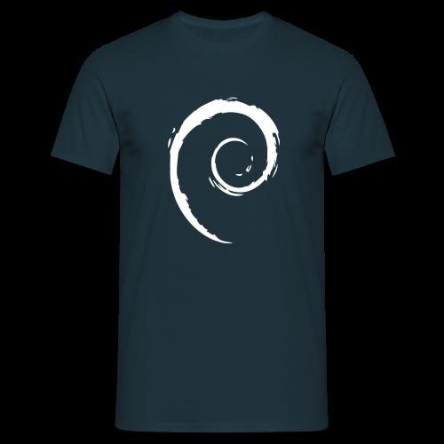 Debian Swirl - Männer T-Shirt