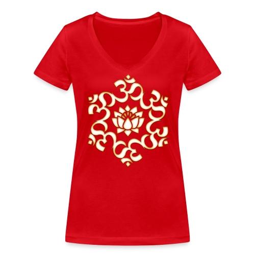 Om - T-shirt ecologica da donna con scollo a V di Stanley & Stella
