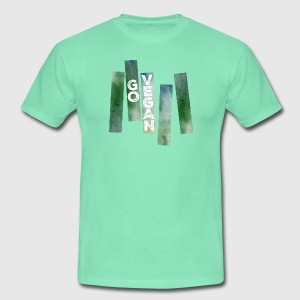 Go Vegan (Watercolor Stripes) Camisetas - Camiseta hombre