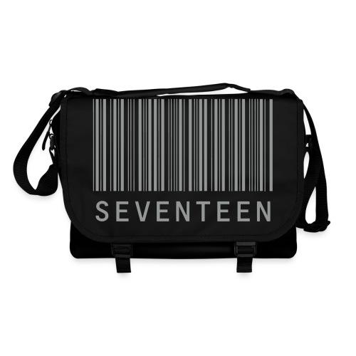 Shoulder Bang with velvety grey seventeen print - Shoulder Bag