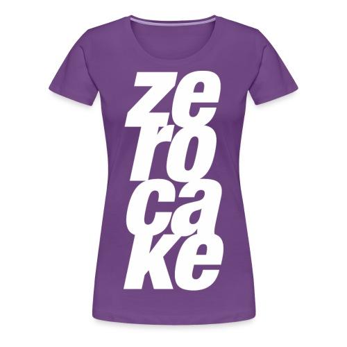 Zerocake Womans Vertical Tee - Women's Premium T-Shirt