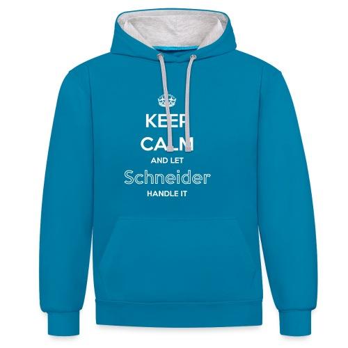 KeepCalm Schneider - Kontrast-Hoodie