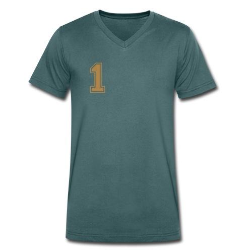 1-green - Männer Bio-T-Shirt mit V-Ausschnitt von Stanley & Stella