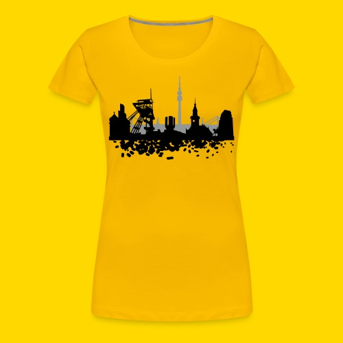 DO Skyline Shirt Frauen gelb - Frauen Premium T-Shirt