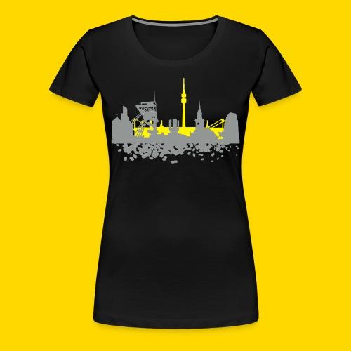 DO Skyline Shirt Frauen schwarz - Frauen Premium T-Shirt