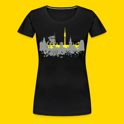 DO Skyline Shirt Frauen schwarz - Frauen Premium T-Shirt