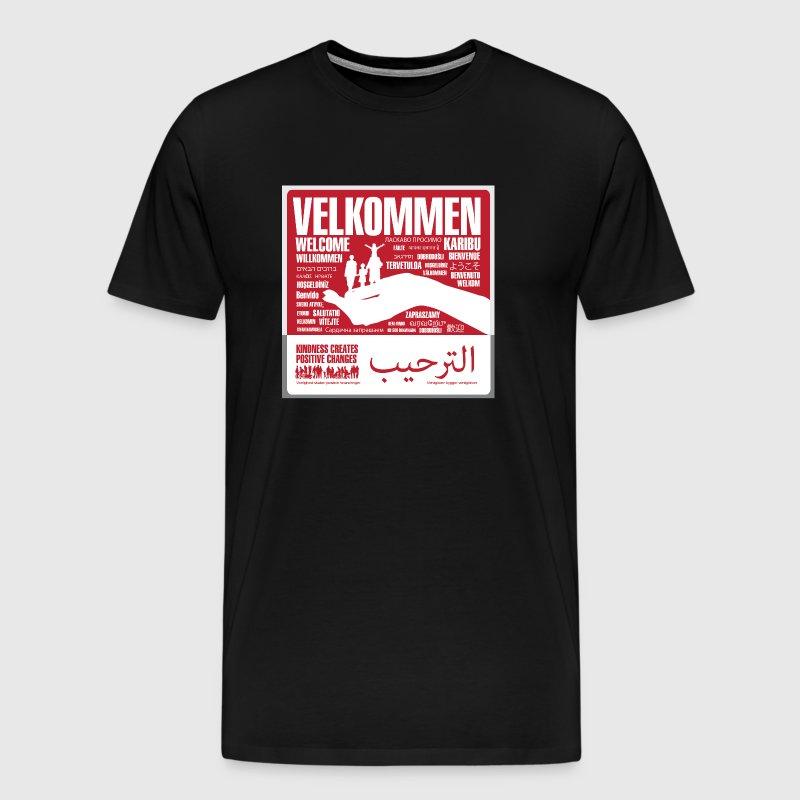 Men - tshirt - Velkommen - Herre premium T-shirt