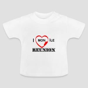 Tee shirt Bébé J'aime mon ile - Réunion - T-shirt Bébé