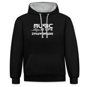 Sweat-Shirt Music is my life - Sweat-shirt contraste