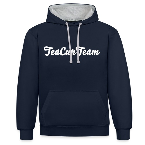 TeaCupTeam Black Sweater - Kontrast-hettegenser