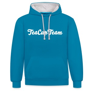 TeaCupTeam Blue Sweater - Kontrast-hettegenser