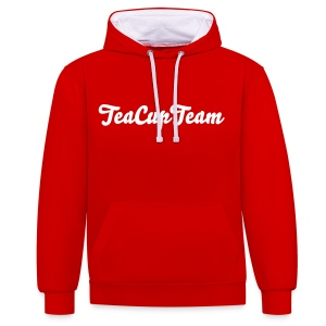 TeaCupTeam Red Sweater - Kontrast-hettegenser