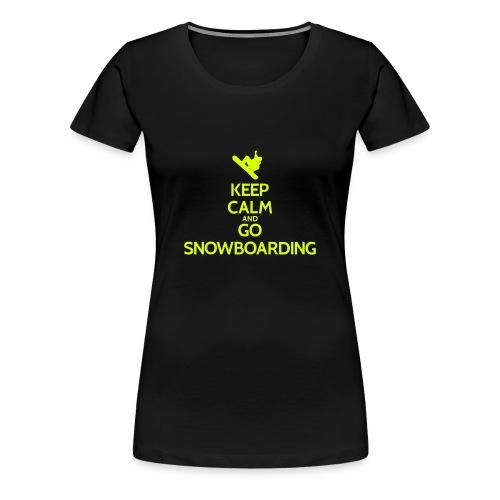 KEEP CALM TShirt and GO SNOWBOARDING - Frauen Premium T-Shirt