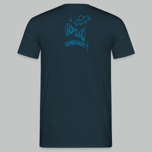 Let's go for a ride (Front) + Coming From Angeland UFO (Back) - Light Blue logo - Men's T-Shirt