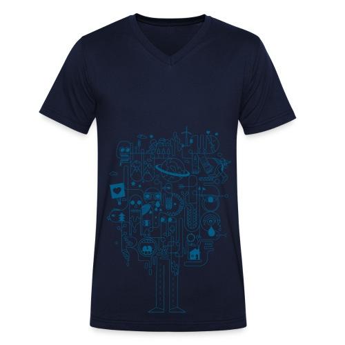 Be Creativ ! - Männer Bio-T-Shirt mit V-Ausschnitt von Stanley & Stella