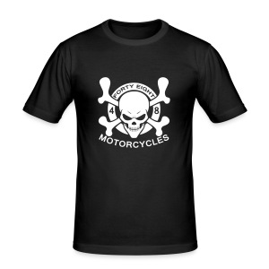 48 Motorcycles skull - Tee shirt près du corps Homme