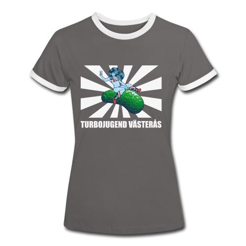 Turbojugend Västerås - Kontrast-T-shirt dam