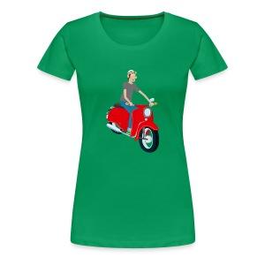 Frauen Shirt rote Comic-Schwalbe - Frauen Premium T-Shirt