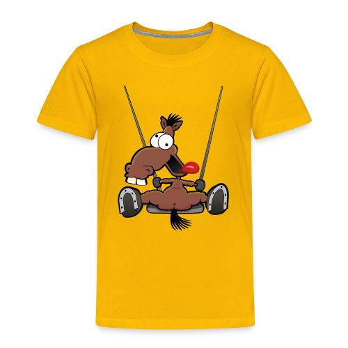 Kinder T-Shirt Verrücktes Pferd auf der Schaukel - Kinder Premium T-Shirt
