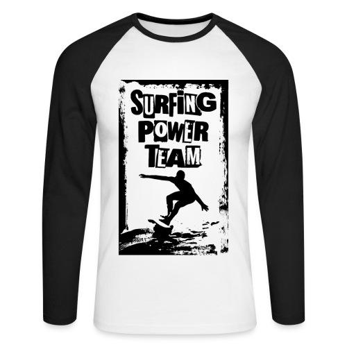 Surfing power - Men's Long Sleeve Baseball T-Shirt
