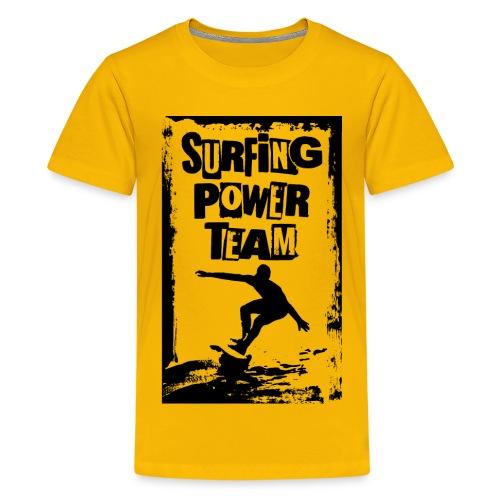 Surfing power - Teenage Premium T-Shirt