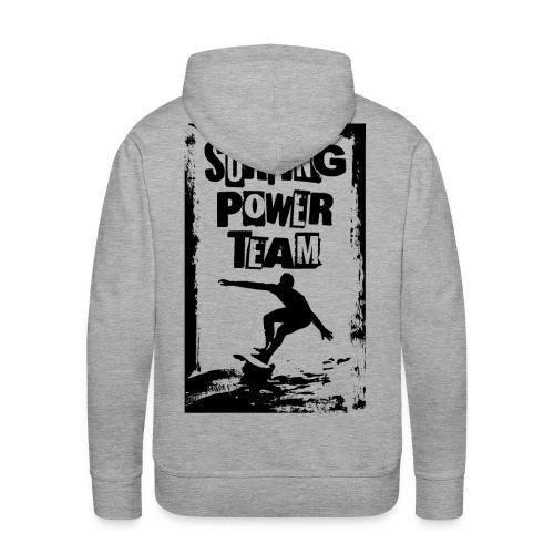 Surfing power - Men's Premium Hoodie