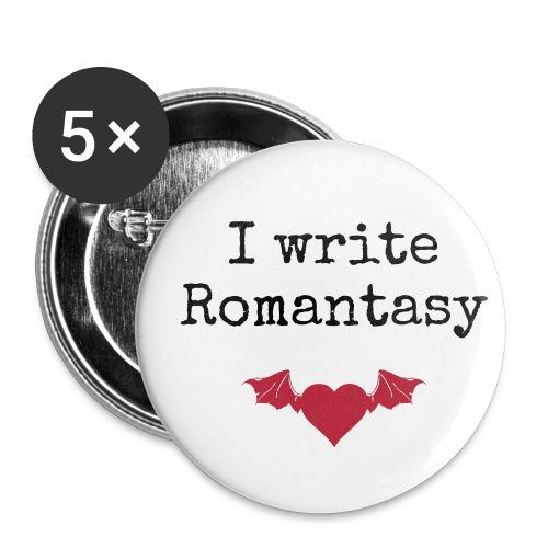 Button medium - I write romantasy - Buttons medium 32 mm