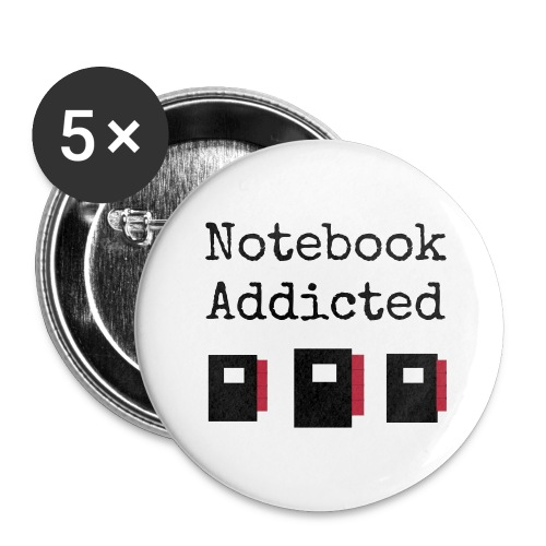 Button big - notebook addicted - Buttons large 56 mm