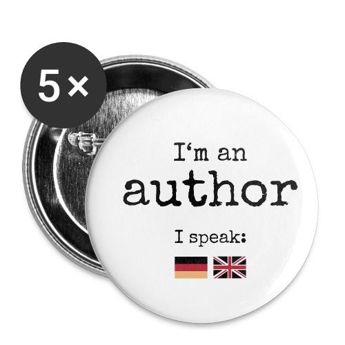 Button medium - I'm an author - Buttons medium 32 mm