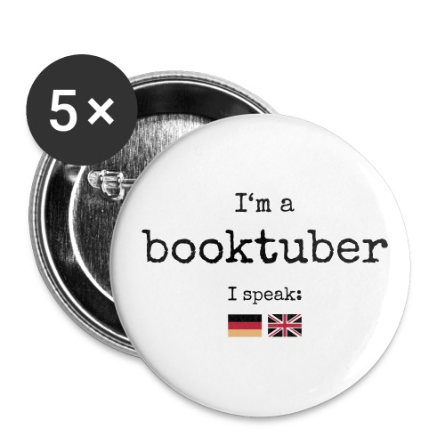 Button big - I'm a booktuber - Buttons large 56 mm