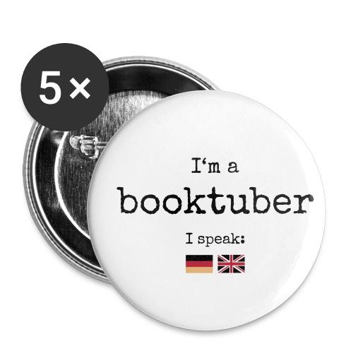 Button medium - I'm a booktuber - Buttons medium 32 mm