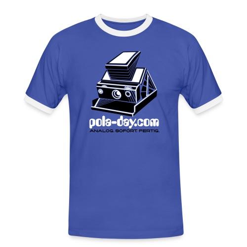 pola-day blue - Men's Ringer Shirt