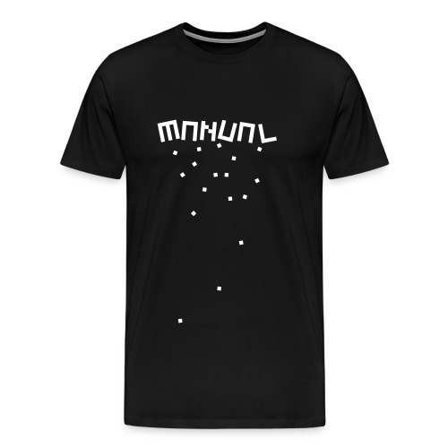 Manual 'Blocks' Black/White - Men's Premium T-Shirt