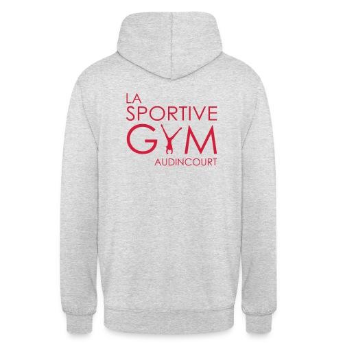 Sweat à capuche gris chiné La Sportive Gym Audincourt - Sweat-shirt à capuche unisexe