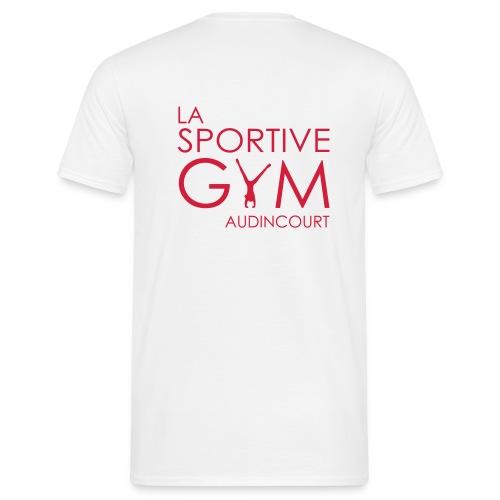 T-shirt blanc La Sportive Gym Audincourt - T-shirt Homme