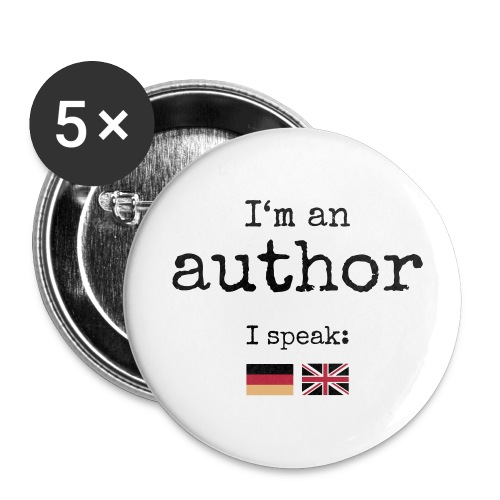 Button big - I'm an author - Buttons large 56 mm