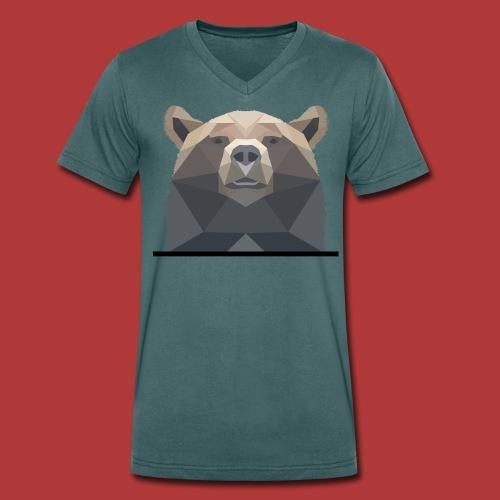 Tee shirt homme Bear - T-shirt bio col V Stanley & Stella Homme