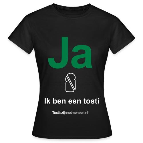 Ja - vrouw (wit/groen) - Vrouwen T-shirt