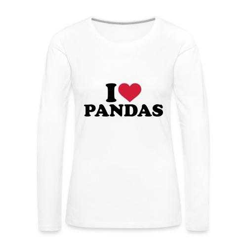 Långärmad premium-T-shirt dam
