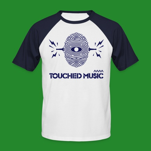 TOUCHED MUSIC LOGO [large - Men's Baseball T-Shirt