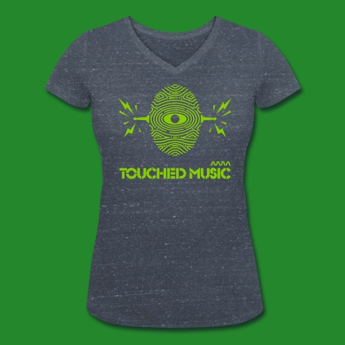 TOUCHED MUSIC LOGO [large - Women's Organic V-Neck T-Shirt by Stanley & Stella