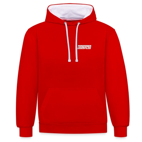Tronixpro Classic Hoodie - White logo - Contrast Colour Hoodie