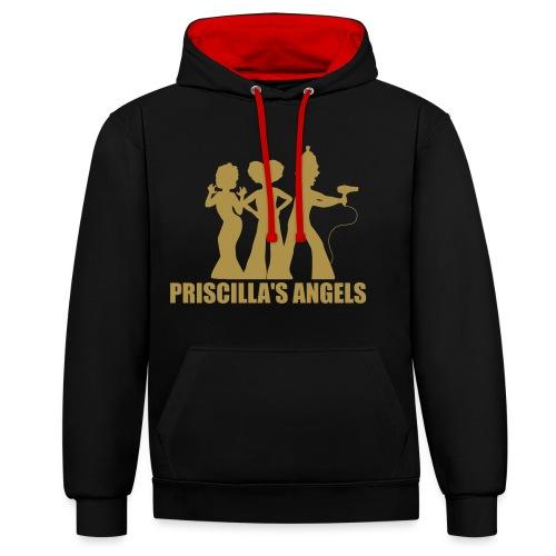 Priscilla's Angels (Glitter)  - Contrast Colour Hoodie