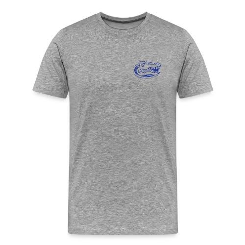 London Gator Club (Grey or White) - Blue lettering - Men's Premium T-Shirt